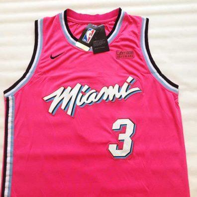 Camisola Miami Heat Wade Rosa frente