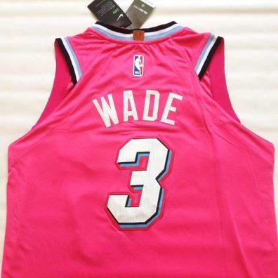 Camisola Miami Heat Wade Rosa novas nba