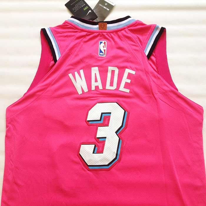 Camiseta Wade 3 negra Miami Heat city
