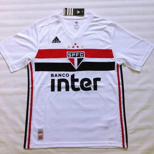 Camisa São Paulo 1 e 2 2019/2020 frente branca