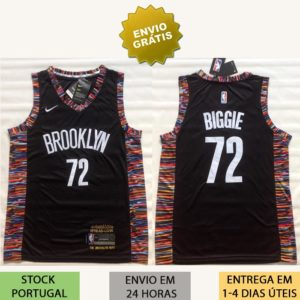 Camisola Brooklyn Nets Biggie 72 nba Biggie Smalls