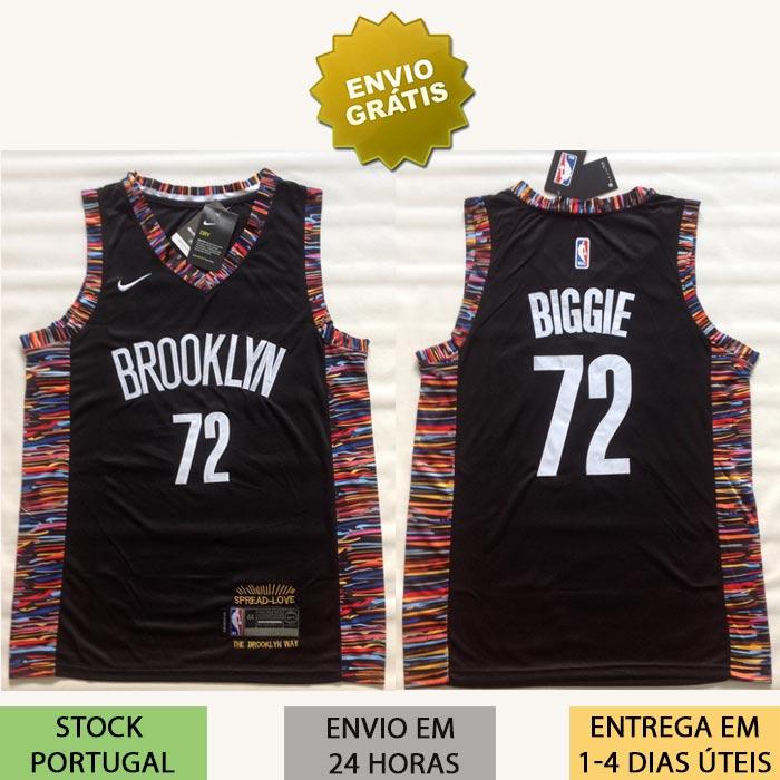 new style e64a5 4b007 Camisola Brooklyn Nets Biggie 72 NBA Jersey Notorious B.I.G.
