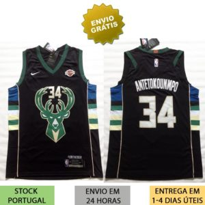 Camisola Milwaukee Bucks 34 Giannis Antetokounmpo