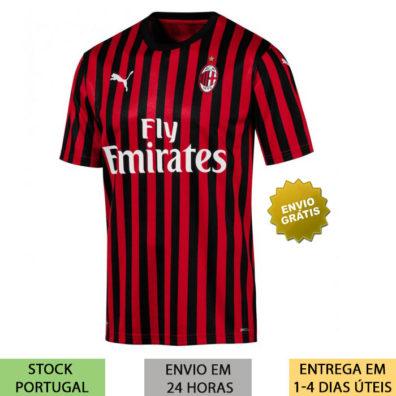 Camisola AC Milan 2019/2020 listrada