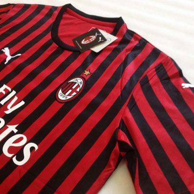 Camisola AC Milan 2019/2020 vermelha e preta