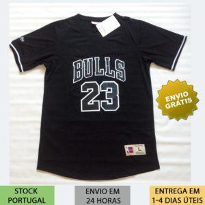 Camisola NBA com mangas preta