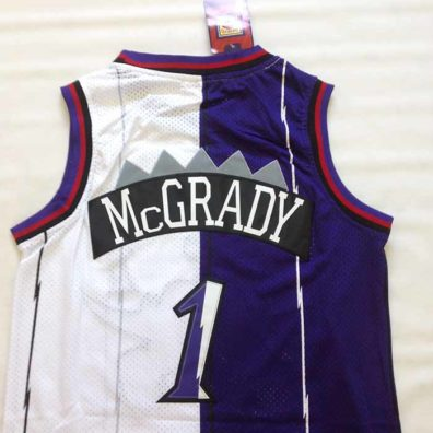 Camisola Tracy McGrady 1 Toronto Raptors camisa nba