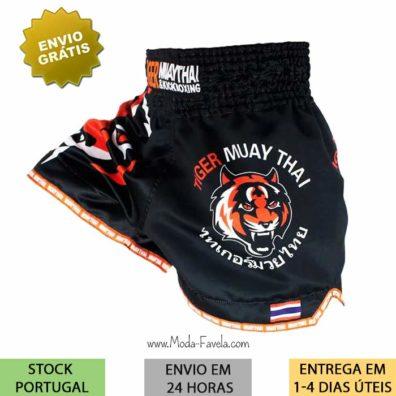 Shorts Kickboxing Tiger Muay Thai Boxe com elasticos