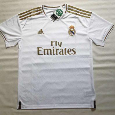 Camisola Principal Real Madrid 2019 2020 branca frente