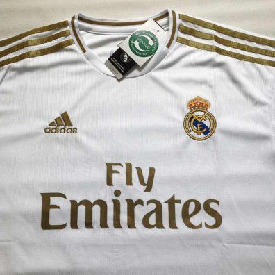 Camisola Principal Real Madrid 2019 2020 branca fotos reais