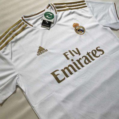 Camisola Principal Real Madrid 2019 2020 branca primeira camisa