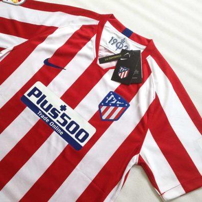 Camisola Atlético de Madrid 2019 2020 vermelha e branca