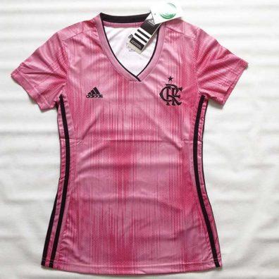 Camisa Feminina Flamengo Rosa frente