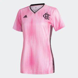 Camisa Feminina Flamengo Rosa - Edição Outubro Rosa