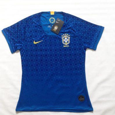 Camisa Brasil Copa do Mundo de Futebol Feminino 2019 foto real