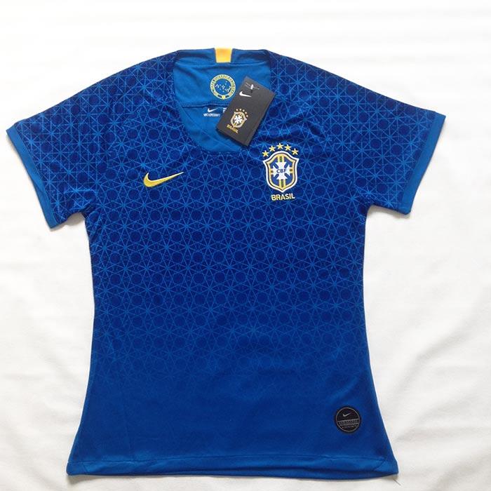 Camisa Brasil Copa do Mundo de Futebol Feminino 2019 azul