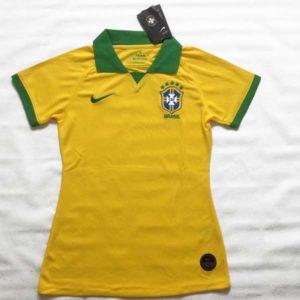 Camisa Feminina Brasil Copa América 2019 foto real