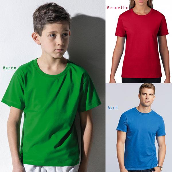 T-shirt lisa em algodão para Homem / Mulher / Criança 180g