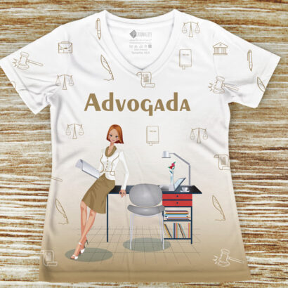 T-shirt profissão/curso Advogada comprar barato