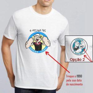 T-shirt personalizada o melhor Pai desde... seu ano de nascimento
