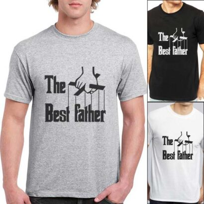 T-shirt The Best Father varias cores