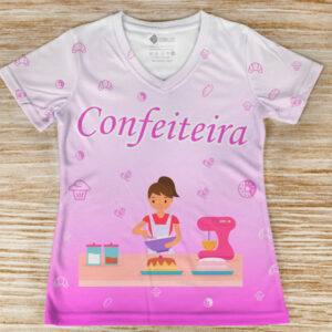 T-shirt profissão/curso Confeiteira