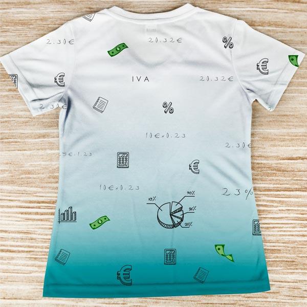 T-shirt profissão/curso Contabilista trás