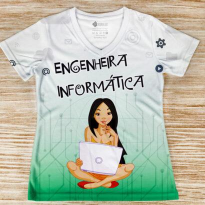 T-shirt profissão/curso Engenheira Informática