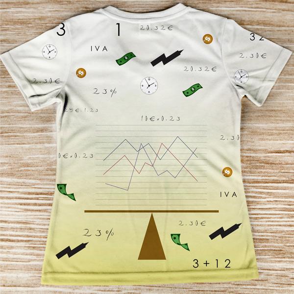 T-shirt profissão/curso Gestão costas