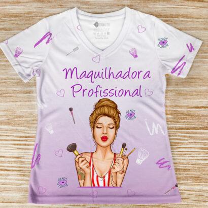 T-shirt profissão/curso Maquilhadora Profissional comprar