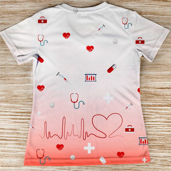 T-shirt profissão/curso Medicina costas