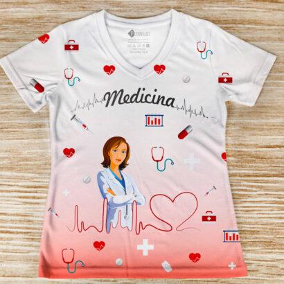 T-shirt profissão/curso Medicina