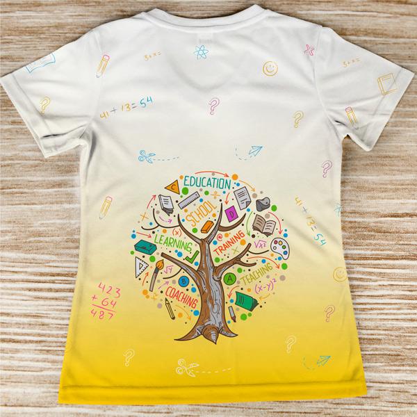 T-shirt profissão/curso Professora Primária costas