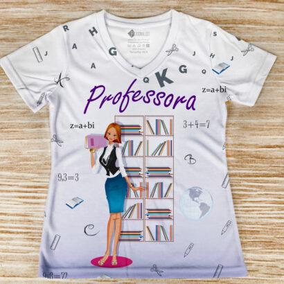 T-shirt profissão/curso Professora