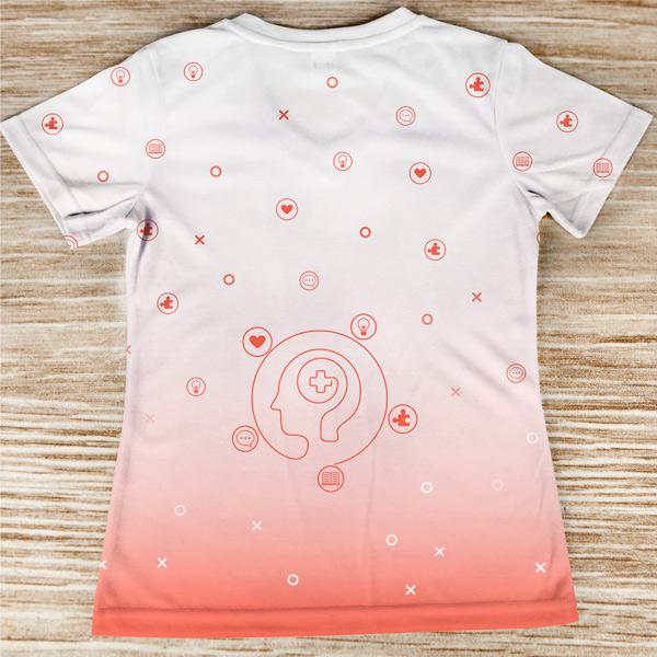 T-shirt profissão/curso Psicóloga costas