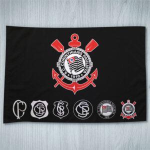 Bandeira do Corinthians Evolução dos escudos 70x100cm