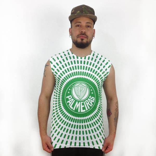 Camisola Cava Regata Palmeiras personalizada com nome frente