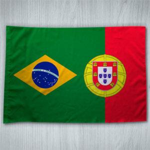 Bandeira Portugal/Brasil 70x100cm comprar