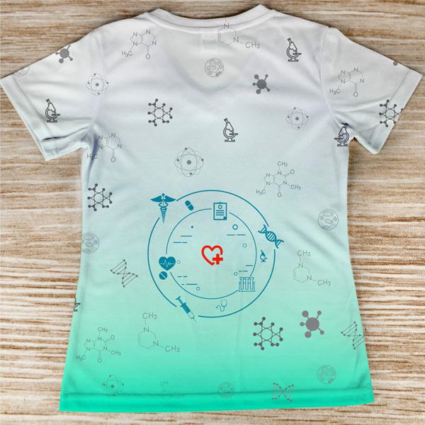 T-shirt profissão/curso Técnica de Laboratório preço baixo