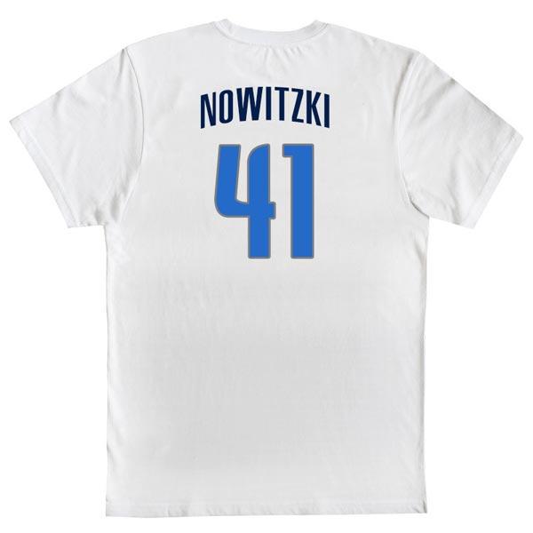 T-shirt Dirk Nowitzki 41 Dallas Mavericks NBA costas