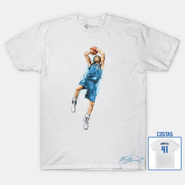 T-shirt Dirk Nowitzki 41 Dallas Mavericks NBA