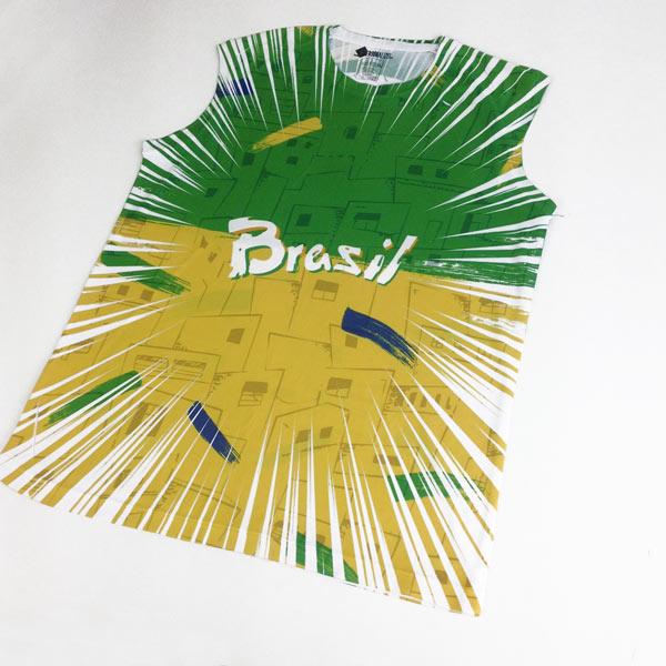 Camisola Cava Regata Brasil personalizada com nome frente real