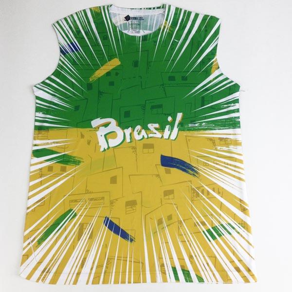 Camisola Cava Regata Brasil personalizada com nome linda