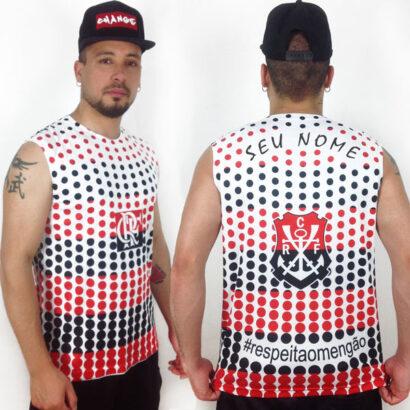 Camisola Cava Regata Flamengo personalizada com nome