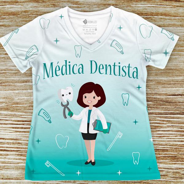 T-shirt profissão/curso Médica Dentista comprar