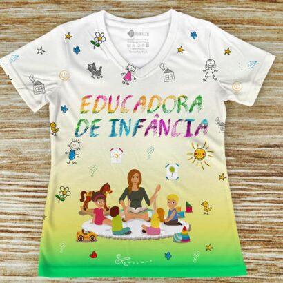 T-shirt profissão/curso Educadora de Infância amarela
