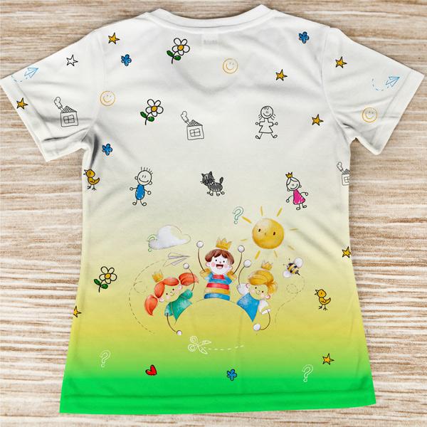 T-shirt profissão/curso Educadora de Infância costas