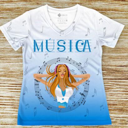 T-shirt profissão/curso Música comprar