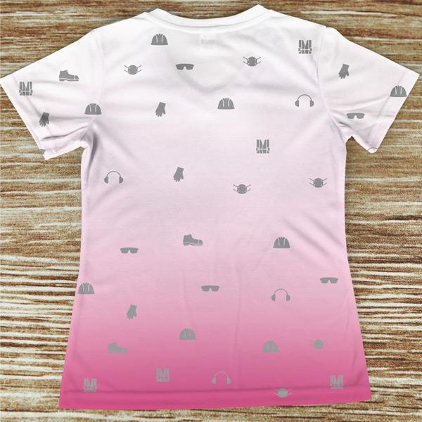 T-shirt profissão/curso Técnica Superior de Segurança no Trabalho costas rosa
