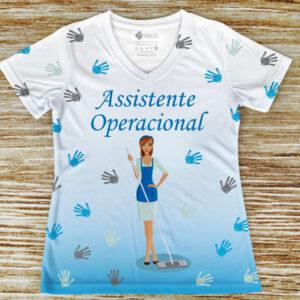 T-shirt profissão/curso Assistente Operacional comprar em portugal